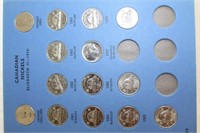 Canadian nickels, dimes and pennies including