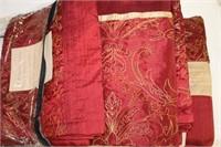Queen duvet cover, pillow shams, bed skirt and