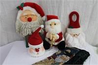 Talking Santa, door knob hangers, wine bags,