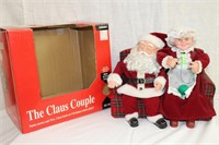 The Claus Couple animated Santa snores and Mrs
