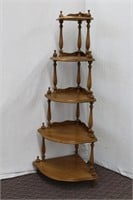 Solid Maple Roxton 5 shelf corner what not stand