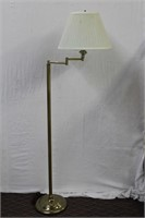Brass floor lamp with swing arm