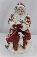 "Fitz and Floyd Santa cookie jar with box 14""H"