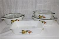 Set of 7 piece Pyrex ovenware