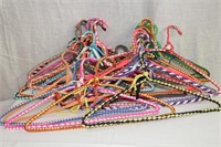 Selection of braided covered hangers