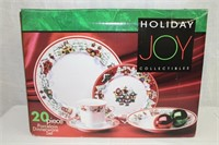 Holiday Joy Collectibles 20 piece porcelain dinner