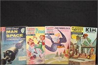 9 Classics Illustrated and 1 Dell Walt Disney