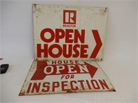 LOT OF 2 REAL ESTATE SIGNS
