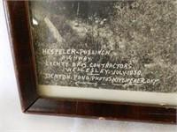 FRAMED 1930'S  HESPLER-PUSLINCH HIGHWAY PRINT