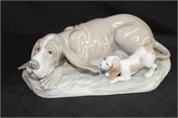 "Nao Lladro 12"" dog figurine Made in Spain"