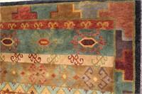 "Tibetan hand knotted wool carpet 5' 10""X 8' 9"""