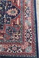 "Turkish 100% wool area carpet  5' 7""  X  8' 4"""