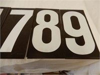 LARGE LOT NUMBERS FOR SERVICE STATION GAS BOARDS