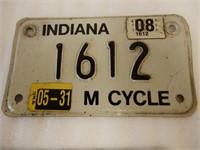 LOT OF 2 INDIANA U.S.A.MOTOR CYCLE LICENSE PLATES