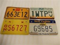 LOT OF 4 U.S.A. EMBOSSED MOTORCYCLE & RV PLATES