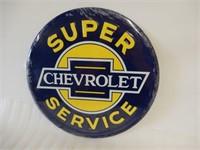 CHEVROLET SUPER SERVICE EMBOSSED SST SIGN