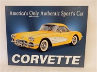 """CORVETTE """"AMERICA'S ONLY AUTHENTIC"""" SST SIGN"""