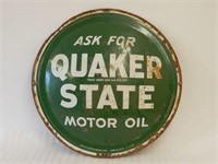 ASK FOR QUAKER STATE MOTOR OIL SST CONVEX SIGN