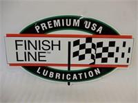 PREMIUM USA LUBRICATION FINISH LINE S/S ALUM. SIGN