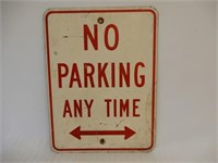 NO PARKING ANY TIME S/S METAL SIGN