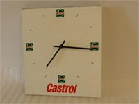CASTROL OIL BATTERY OPERATED PLASTIC CLOCK