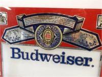 BUDWEISER GENUINE BEER GLASS ADVERTISING