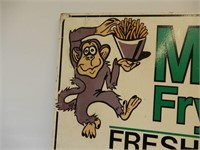 MONK'S FRY HOUSE WOODEN SIGN