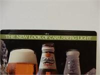 CARLSBERG LIGHT EMBOSSED S/S PLASTIC ADV. SIGN