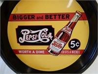 "PEPSI-COLA ""BIGGER & BETTER"" 5 CENT SERVING TRAY"