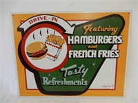 DRIVE-IN TASTY REFRESHMENTS SST SIGN