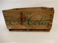 1963 DRINK COCA-COLA  WOODEN CRATE