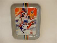 1988 CALGARY OLYMPICS HOCKEY  & COCA-COLA TRAY