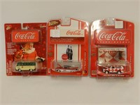 LOT OF 3 JOHNNY LIGHTNING COCA-COLA COLLECTOR TOYS