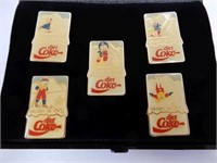 SET OF 5 DIET COKE CALGARY 1988 COLLECTOR PINS