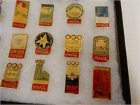 BOXED SET OF COCA-COLA OLYMPIC PINS