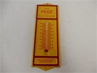 """COCA-COLA """"SOLD HERE"""" METAL THERMOMETER"""