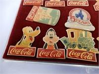 WALT DISNEY COCA-COLA COLLECTOR PINS
