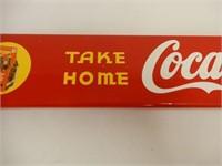 "COCA-COLA ""TAKE HOME IN CARTONS"" PUSH BAR"