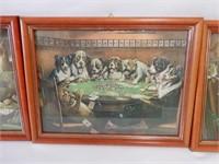 GROUP OF 3 FRAMED GAMBLING DOGS
