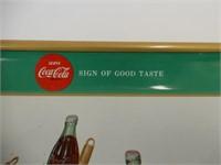 "COCA-COLA ""SIGN OF GOOD TASTE"" SERVING TRAY"