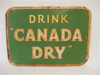 DRINK CANADA  DRY EMBOSSED SST SIGN