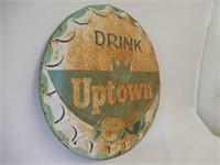 RARE DRINK UPTOWN COLA  SST BOTTLE CAP SIGN