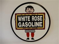 WHITE ROSE GASOLINE S/S HARDBOARD SIGN