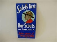 BOY SCOUTS OF AMERICAN S/S PAINTED METAL SIGN