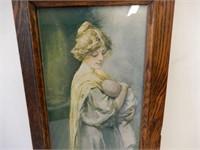 VINTAGE FRAMED  MOTHER & CHILD PRINT