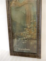 FRAMED 1923 POMPEIAN BEAUTY PANEL PICTURE