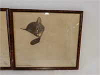 "LOT OF 3 FRAMED ""CHESSIE THE KITTEN"" PRINTS"