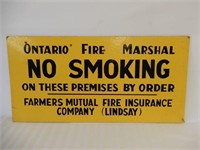 ONTARIO FIRE NO SMOKING S/S PRESSBOARD SIGN