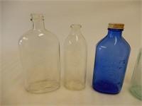 LOT OF VINTAGE COLLECTOR GLASS BOTTLES