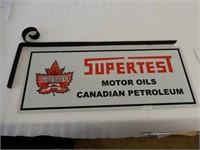LOT OF 4 SUPERTEST MOTOR OIL ALUMINUM SIGNS